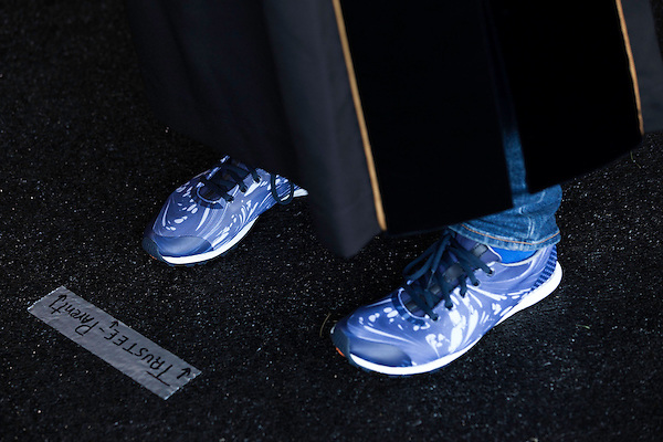 May 19, 2014. Winston Salem, North Carolina.<br />  Jill Abramson's shoes.<br />  Former New York Times Executive Editor Jill Abramson gave the commencement address and handed diplomas to graduating students at Wake Forest University.
