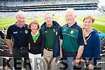 Tom Culhane, Glin, Pauline and Jimmy Moriarty, Tralee Patrick and Anne Slattery, Abbeydorney Kerry  fans at the All Ireland Senior Quarter Final at Croke Park on Sunday.