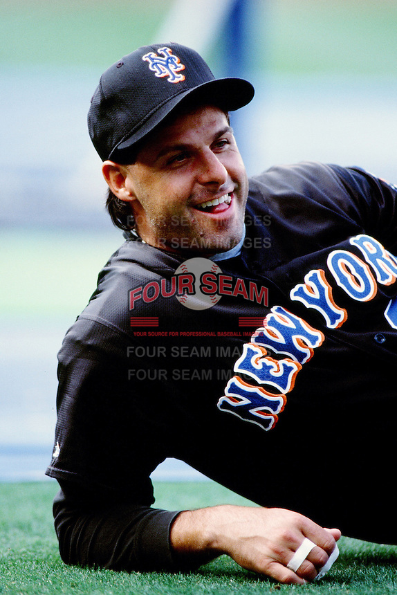 Turk Wendell of the New York Mets during a game against the Los Angeles Dodgers at Dodger Stadium circa 1999 in Los Angeles, California. (Larry Goren/Four Seam Images)