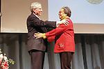 Jeremy Travis presents award to Marian Wright Edelman, at the John Jay Justice Award ceremony, April 5 2011.