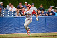 Williamsport Crosscutters left fielder Ben Pelletier (35) runs home during a game against the Batavia Muckdogs on June 22, 2018 at Dwyer Stadium in Batavia, New York.  Williamsport defeated Batavia 9-7.  (Mike Janes/Four Seam Images)