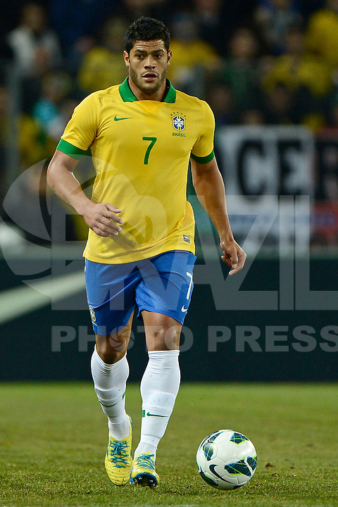 Football: National Team Brasil, Geneva, 21.03.2013.Hulk.©pixathlon.ITA AND FRA OUT !