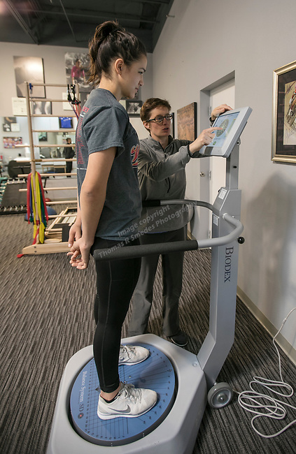 The Physical Therapy Clinic with Thais and Megan at the Spine Nevada office in Sparks on March 8, 2017.