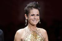 SAO PAULO. 30 DE AGOSTO DE 2012. HAIR FASHION SHOW.  A apresentadora Xuxa Meneghel durante o Hair Fashion Show, evento em que sao apresentadas as ultimas tendencias em cortes e penteados de cabelo em desfile no WTC, na zona sul da capital paulista. FOTO ADRIANA SPACA - BRAZIL PHOTO PRESS
