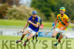 Kieran McCarthy Kilmoyley in action against Shane Conway Lixnaw in the Kerry County Senior Hurling championship Final between Kilmoyley and Lixnaw at Austin Stack Park on Sunday.