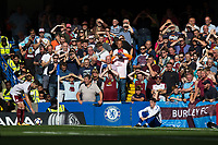 Burnley fans in the second half<br /> <br /> Photographer Craig Mercer/CameraSport<br /> <br /> The Premier League - Chelsea v Burnley - Saturday August 12th 2017 - Stamford Bridge - London<br /> <br /> World Copyright &copy; 2017 CameraSport. All rights reserved. 43 Linden Ave. Countesthorpe. Leicester. England. LE8 5PG - Tel: +44 (0) 116 277 4147 - admin@camerasport.com - www.camerasport.com