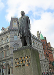 Tomas Daibis, Thomas Davis, statue on College Green, Dublin city, Ireland, Republic of Ireland by Edward Delaney 1966