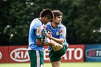 SAO PAULO,SP, 19 DE FEVEREIRO 2013 - TREINO PALMEIRAS  - Valdivia (D) jogador do Palmeiras durante treino na Academia de Futebol, zona oeste da capital, na tarde desta treça-feira(19), a equipe se prepara para 9ª rodada do paulistão - FOTO: LOLA OLIVEIRA//BRAZIL PHOTO PRESS