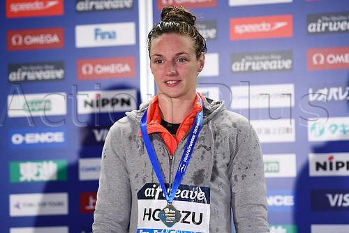 25.10.2016. Tokyo, Japan.  Katinka Hosszu (HUN), <br /> FINA Swimming World Cup Tokyo <br /> Women's 50m Backstroke Award Ceremony at Tatsumi International Swimming Pool, Tokyo, Japan.