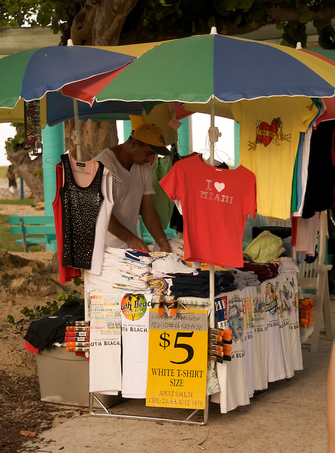 Selling conmerative t-shirts at the Miami Urban Weekend 2008 event.