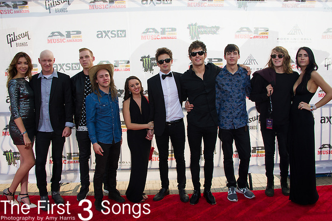I See Stars attends the 2014 AP Music Awards at the Rock And Roll Hall Of Fame and Museum at North Coast Harbor in Cleveland, Ohio.