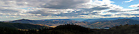 A pananoramic view of the Lake Chelan Valley and surrounding mountains from Echo Ridge.