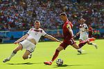 (L to R) <br /> Per Mertesacker (GER), <br /> Cristiano Ronaldo (POR), <br /> JUNE 16, 2014 - Football /Soccer : <br /> 2014 FIFA World Cup Brazil <br /> Group Match -Group G- <br /> between  Germany 4-0 Portugal <br /> at Arena Fonte Nova, Salvador, Brazil. <br /> (Photo by YUTAKA/AFLO SPORT)
