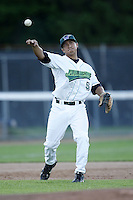 June 23, 2009:  Third Baseman Michael Pasek of the Jamestown Jammers in the field during a game at Russell Diethrick Park in Jamestown, NY.  The Jammers are the NY-Penn League Short-Season Class-A affiliate of the Florida Marlins.  Photo by:  Mike Janes/Four Seam Images