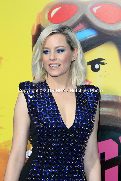 """LOS ANGELES - FEB 2:  Elizabeth Banks at """"The Lego Movie 2: The Second Part"""" Premiere at the Village Theater on February 2, 2019 in Westwood, CA"""