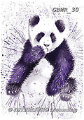 Simon, REALISTIC ANIMALS, REALISTISCHE TIERE, ANIMALES REALISTICOS, paintings+++++KatherineW_SplatterPanda,GBWR30,#a#, EVERYDAY
