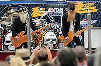Nov. 8, 2009; Fort Worth, TX, USA; The music group Z.Z. Top performs a concert prior to the Dickies 500 at the Texas Motor Speedway. Mandatory Credit: Mark J. Rebilas-