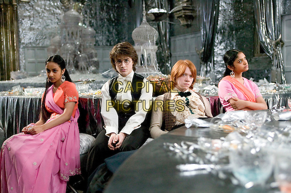 SHEFALI CHOWDHURY, DANIEL RADCLIFFE, RUPERT GRINT & AFSHAN AZAD.in Harry Potter & The Goblet Of Fire.Filmstill - Editorial Use Only.CAP/AWFF.www.capitalpictures.com.sales@capitalpictures.com.Supplied By Capital Pictures.