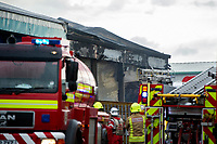 2019 06 11 Garngoch Industrial Estate Fire, Swansea, Wales, UK