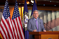 United States House Minority Leader Kevin McCarthy (Republican of California) speaks during a press conference on Capitol Hill in Washington D.C., U.S., on Thursday, November 14, 2019.  <br /> <br /> Credit: Stefani Reynolds / CNP/AdMedia