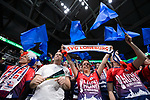 24.02.2019, SAP Arena, Mannheim<br /> Volleyball, DVV-Pokal Finale, VfB Friedrichshafen vs. SVG LŸneburg / Lueneburg<br /> <br /> Feature Fans / Fanblock LŸneburg / Lueneburg<br /> <br />   Foto © nordphoto / Kurth