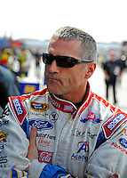 Feb. 28, 2009; Las Vegas, NV, USA; NASCAR Sprint Cup Series driver Bobby Labonte during practice for the Shelby 427 at Las Vegas Motor Speedway. Mandatory Credit: Mark J. Rebilas-