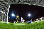 S&ouml;dert&auml;lje 2014-04-07 Fotboll Superettan Assyriska FF - Hammarby IF :  <br /> Hammarbys Fredrik Torsteinb&ouml; Torsteinb&oslash; g&ouml;r 1-0 bakom Assyriskas m&aring;lvakt Robin Malmkvist <br /> (Foto: Kenta J&ouml;nsson) Nyckelord:  Assyriska AFF S&ouml;dert&auml;lje Hammarby HIF Bajen jubel gl&auml;dje lycka glad happy remote remotekamera remotecam