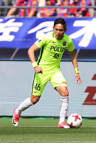 Ryota Moriwaki (Reds), <br /> APRIL 16, 2017 - Football / Soccer : <br /> 2017 J1 League match between F.C. Tokyo 0-1 Urawa Reds <br /> at Ajinomoto Stadium, Tokyo, Japan. <br /> (Photo by AFLO SPORT)