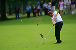 Robert Rock (ENG) plays his 2nd shot on the 2nd hole during Day 3 of the BMW Italian Open at Royal Park I Roveri, Turin, Italy, 11th June 2011 (Photo Eoin Clarke/Golffile 2011)