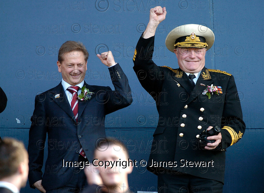 13/05/2006         Copyright Pic: James Stewart.File Name : sct_jspa32_hearts_v_gretna.ROMANOV WITH ONE OF HIS RUSSIAN GUESTS.....Payments to :.James Stewart Photo Agency 19 Carronlea Drive, Falkirk. FK2 8DN      Vat Reg No. 607 6932 25.Office     : +44 (0)1324 570906     .Mobile   : +44 (0)7721 416997.Fax         : +44 (0)1324 570906.E-mail  :  jim@jspa.co.uk.If you require further information then contact Jim Stewart on any of the numbers above.........