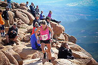 August 19, 2017 - Colorado Springs, Colorado, U.S. -  Colorado's, Addie Bracy, nears the summit and a thrid place finish in the 62nd running of the Pikes Peak Ascent.  The Ascent is a full half-marathon gaining over 7800 feet in elevation to reach the summit at 14,115 feet.  Mountain runners from around the world converge on Pikes Peak for two days of racing on America's Mountain in Colorado Springs, Colorado.
