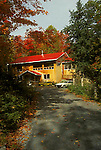Country home, autumn, fall colour, maple trees, Lanark County, Ontario