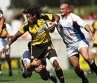 Ma'a Nonu looks for support..Super 14 rugby union match, Hurricanes v Cheetahs at Yarrows Stadium, New Plymouth, New Zealand. Saturday 7 March 2009. Photo: Dave Lintott / lintottphoto.co.nz