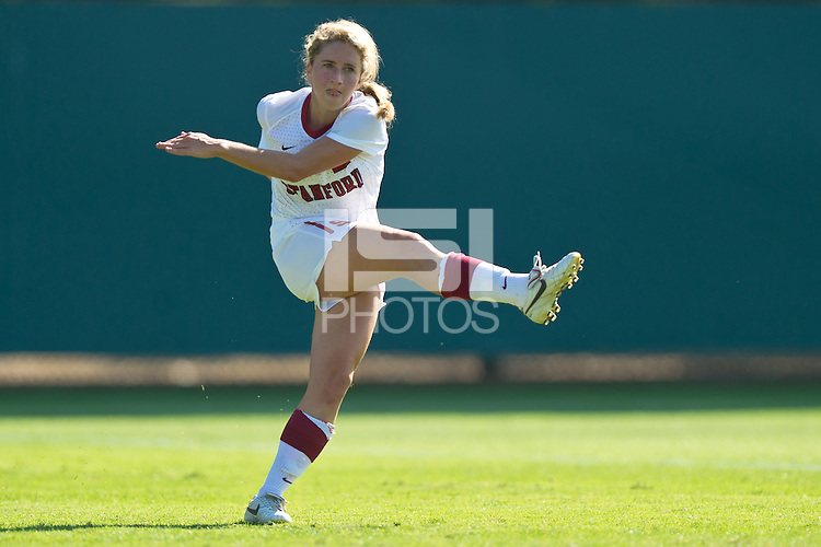STANFORD, CA - OCTOBER 23: Stanford defeats Colorado 4-1 in a women's soccer match on October 23, 2011 in Stanford, California.
