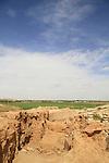 Israel, Negev desert, Tel Beer Sheba, the casemate wall  of the Biblical city of Beer Sheba, UNESCO World Heritage Site