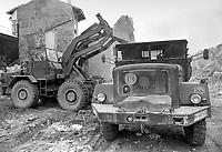 - Friuli, due mesi dopo il terremoto del maggio 1976, intervento dell'esercito tedesco <br /> <br /> - Friuli, two months after the earthquake of May 1976,  intervention of German army