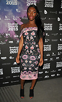 Michaela Coel at the Broadcast Awards 2018, Grosvenor House Hotel, Park Lane, London, England, UK, on Wednesday 07 February 2018.<br /> <br /> CAP/CAN<br /> &copy;CAN/Capital Pictures