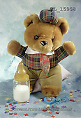 Interlitho, Alberto, CUTE ANIMALS, teddies, babies, photos, teddy, babybottle, blu(KL15958,#AC#)