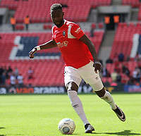 Emmanuel Dieseruvwe (Salford City) during the Vanarama National League Playoff Final between AFC Fylde & Salford City at Wembley Stadium, London, England on 11 May 2019. Photo by James  Gil.