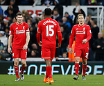 Dejected James Milner of Liverpool Lucas Leiva of Liverpool after the second goal - English Premier League - Newcastle Utd vs Liverpool - St James' Park Stadium - Newcastle Upon Tyne - England - 6th December 2015 - Picture Simon Bellis/Sportimage