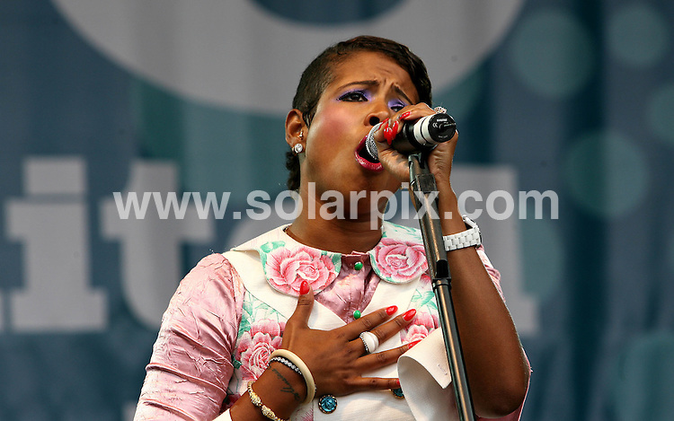 **ALL ROUND PICTURES FROM SOLARPIX.COM**.**WORLDWIDE SYNDICATION RIGHTS**.Jamelia, Kelis and Saint Etienne perform at RISE anti-racist music festival, Finsbury Park, London, 15th July 2007...This pic: Kelis..JOB REF:   4286    SSD     DATE: 15_07_2007.**MUST CREDIT SOLARPIX.COM OR DOUBLE FEE WILL BE CHARGED* *UNDER NO CIRCUMSTANCES IS THIS IMAGE TO BE REPRODUCED FOR ANY ONLINE EDITION WITHOUT PRIOR PERMISSION*