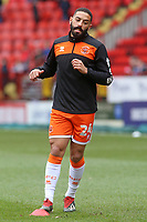 Blackpool's Liam Feeney during the pre-match warm-up <br /> <br /> Photographer David Shipman/CameraSport<br /> <br /> The EFL Sky Bet League One - Charlton Athletic v Blackpool - Saturday 16th February 2019 - The Valley - London<br /> <br /> World Copyright © 2019 CameraSport. All rights reserved. 43 Linden Ave. Countesthorpe. Leicester. England. LE8 5PG - Tel: +44 (0) 116 277 4147 - admin@camerasport.com - www.camerasport.com