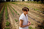 """DAVIS - APRIL 15: Pamela Roland, a plant geneticist, co-authored with her husband, Raoul Adamchak, a bio-gardener at UC Davis, """"Tomorrow's Table: Organic Farming, Genetic and the Future of Food,"""" in Davis, Ca., on Friday, April 15, 2011."""
