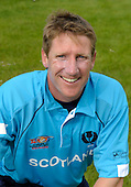 ICC T20 World Cup - Scotland cricketers - John Blain (Yorkshire CC) photographed in the national teams' newly designed kit - Picture by Donald MacLeod - 29 May 2009