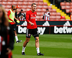 Paul Coutts of Sheffield Utd wearing support tape during the Championship League match at Bramall Lane Stadium, Sheffield. Picture date 19th August 2017. Picture credit should read: Simon Bellis/Sportimage