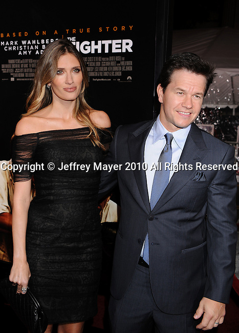 "HOLLYWOOD, CA. - December 06: Mark Wahlberg (R) and Rhea Durham attend ""The Fighter"" Los Angeles premiere at Grauman's Chinese Theater on December 6, 2010 in Hollywood, California."