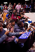 Orangeburg, South Carolina.January 22, 2008 ..Singer Usher Raymond, and actress Kerry Washington sign cards and greet supporters for Presidential hopeful Sen. Barack Obama (D-IL) who held a campaign rally at South Carolina State University. Obama is campaigning through the state ahead of its Democratic primary on January 26. .