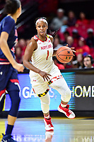 College Park, MD - NOV 21, 2017: Maryland Terrapins guard Ieshia Small (1) in action during the game between the Howard Lady Bison and the Maryland Terrapins at the XFINITY Center in College Park, MD.  (Photo by Phil Peters/Media Images International)