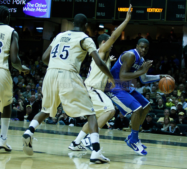 Freshman forward, Terrence Jones, under pressure from Vanderbilt on Saturday, February 12, 2011.  Photo by Latara Appleby | Staff