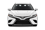 Car photography straight front view of a 2018 Toyota Camry XSE 4 Door Sedan Front View